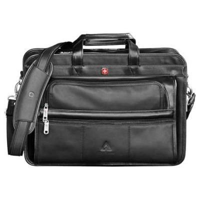 "Wenger® Leather 15"" Computer Attaché"