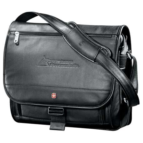 "Wenger® Executive Leather 17"" Computer Messenger"